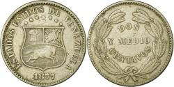 World Coins - Coin, Venezuela, 2-1/2 Centavos, 1877, Philadelphia, , Copper-nickel