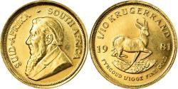 World Coins - Coin, South Africa, 1/10 Krugerrand, 1981, , Gold, KM:105