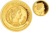 World Coins - Coin, Cook Islands, Elizabeth II, ancient gold quinarius of Augustus, 5 Dollars