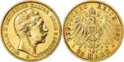 Ancient Coins - Coin, German States, PRUSSIA, Wilhelm II, 20 Mark, 1897, Berlin,