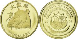 World Coins - Coin, Liberia, Panda, 10 Dollars, 2006, , Gold