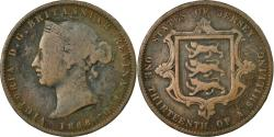World Coins - Coin, Jersey, Victoria, 1/13 Shilling, 1866, , Bronze, KM:5