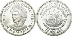 World Coins - Coin, Liberia, 20 Dollars, 1997, , Silver, KM:417