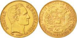 World Coins - Coin, Venezuela, Gr 6.4516, 20 Bolivares, 1911, AU(55-58), Gold, KM:32