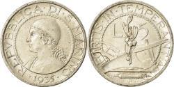 World Coins - Coin, San Marino, 5 Lire, 1935, Rome, , Silver, KM:9