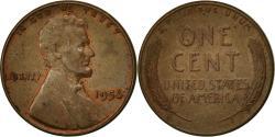 Us Coins - United States, Lincoln Cent, Cent, 1956, U.S. Mint, Philadelphia,