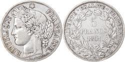 World Coins - Coin, France, Cérès, 5 Francs, 1851, Paris, , Silver, KM:761.1