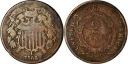 Us Coins - Coin, United States, 2 Cents, 1866, U.S. Mint, Philadelphia,