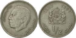 World Coins - Coin, Morocco, al-Hassan II, 1/2 Dirham, 1987/AH1407, Paris,