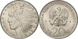 World Coins - Poland, 20 Zlotych, 1975, Warsaw, MS(65-70), Copper-nickel, KM:75