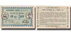 World Coins - Banknote, Senegal, 0.50 Franc, valeur faciale, 1917, 1917-02-11, KM:1b, UNC(64)