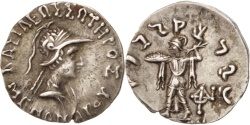 Ancient Coins - Bactriane (Kingdom of), Menander, Baktria, Menander (160-140 BC), Drachm
