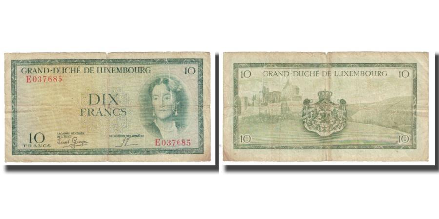 World Coins - Banknote, Luxembourg, 10 Francs, KM:48a, VF(20-25)