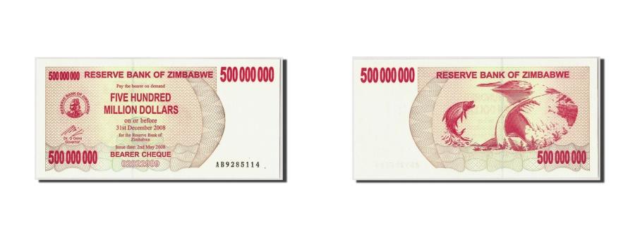 World Coins - Zimbabwe, 500 Million Dollars, 2008, KM:60, 2008-05-02, UNC(65-70)