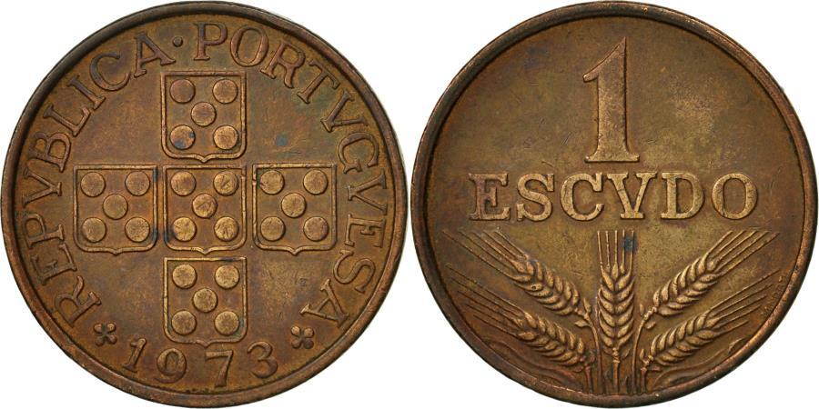 World Coins - Portugal, Escudo, 1973, , Bronze, KM:597