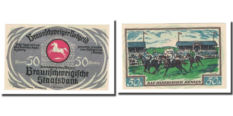 World Coins - Banknote, Germany, Braunschweig, 50 Pfennig, cavalier 1, 1923, 1923-05-01