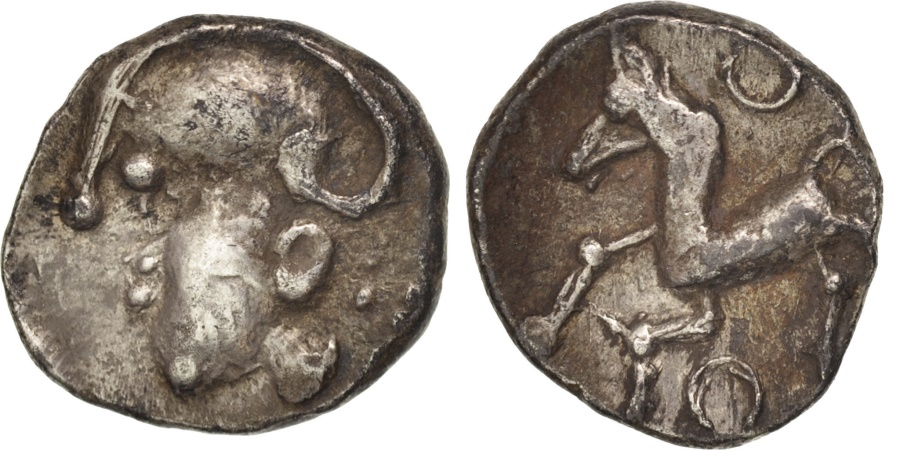 Ancient Coins - Aedui, Quinarius, , Silver, Delestrée:manque.