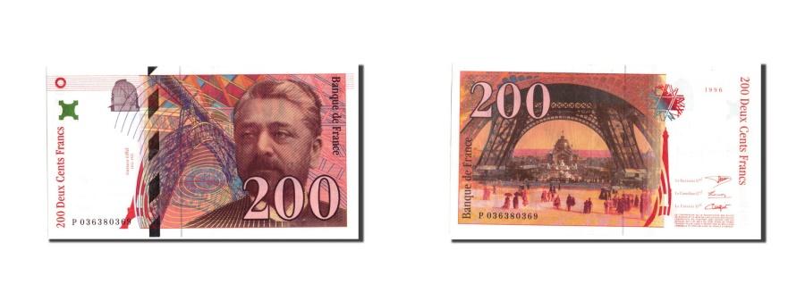 World Coins - France, 200 Francs, 200 F 1995-1999 ''Eiffel'', 1996, KM:159a, 1996, AU(50-53)