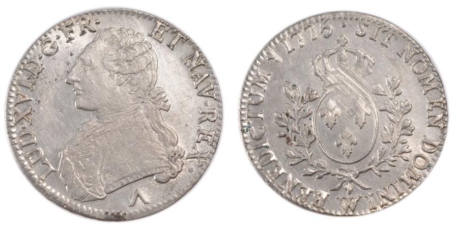 World Coins - FRANCE, Écu aux branches d'olivier, ECU, 1775, Lille, KM #564.16, , ...