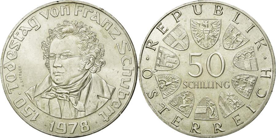 World Coins - Coin, Austria, 50 Schilling, 1978, AU(55-58), Silver, KM:2937