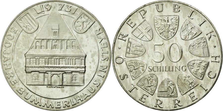 World Coins - Coin, Austria, 50 Schilling, 1973, AU(55-58), Silver, KM:2916