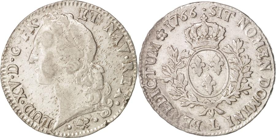 World Coins - France, Louis XV, Écu au bandeau, 1766, Bayonne, , Silver, KM 512.12
