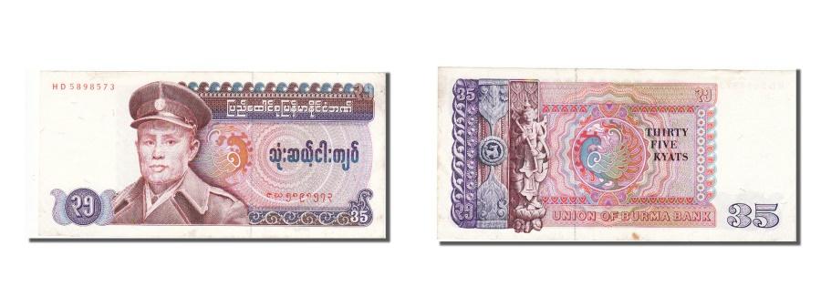 World Coins - Burma, 35 Kyats, 1986, KM #63, UNC(63), HD 5898573