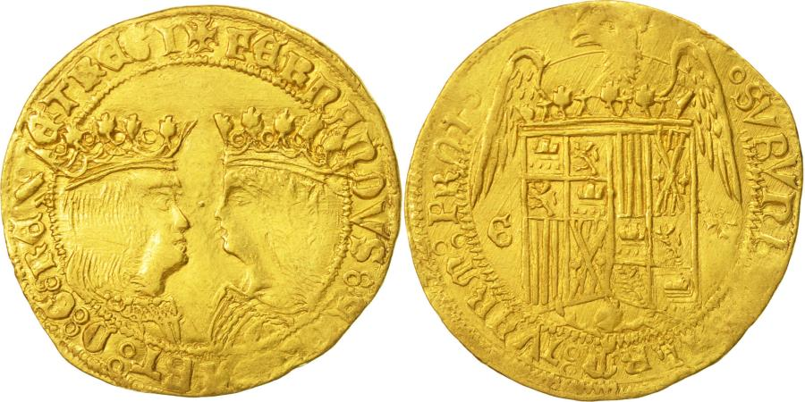 World Coins - Spain, Castille and Leon,Ferdinand V and Isabel ,Double Excellentes,Circa1497