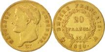 World Coins - France, Napoléon I, 20 Francs, 1810, Paris, EF(40-45), Gold, KM:695.1