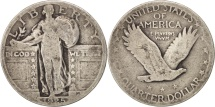 Us Coins - United States, Standing Liberty Quarter, 1925, Philadelphia, KM 145