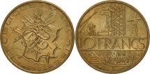 World Coins - France, Mathieu, 10 Francs, 1984, Paris, AU(55-58), Nickel-brass, KM:940