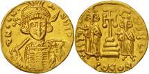 Constantine IV Pogonatus, Solidus, Constantinople, AU(55-58), Gold, Sear:1154