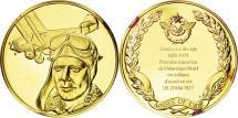 World Coins - France, Medal, L'Histoire de la Conquête de l'Air, Charles Lindbergh, Aviation