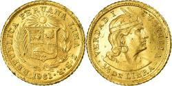 World Coins - Coin, Peru, 1/5 Libra, Pound, 1961, Lima, , Gold, KM:210