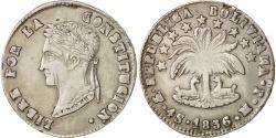 World Coins - Bolivia, 4 Soles, 1856, Potosi, , Silver, KM:123.2