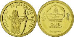 World Coins - Coin, Mongolia, Jeux paralympiques - Archer, 500 Tugrik, 2008, CIT, Proof