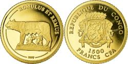 World Coins - Coin, CONGO, DEMOCRATIC REPUBLIC, Romulus et Remus, 1500 Francs CFA, 2007