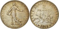 World Coins - Coin, France, Semeuse, 2 Francs, 1913, Paris, , Silver, KM:845.1