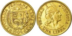 World Coins - Coin, Peru, Libra, Pound, 1904, , Gold, KM:207