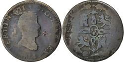 World Coins - SPAIN, 8 Maravedis, 1814, Jubia, KM #461, VG(8-10), Copper, 8.49