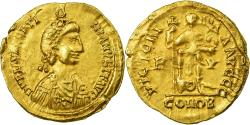Coin, Valentinian III, Solidus, Ravenna, Visigothic Imitation, , Gold