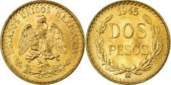 World Coins - Coin, Mexico, 2 Pesos, 1945, Mexico City, , Gold, KM:461