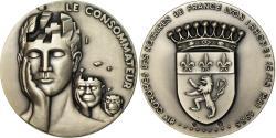 World Coins - France, Token, 81ème Congrès des Notaires de France, Lyon, 1985,