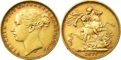 World Coins - Coin, Australia, Victoria, Sovereign, 1877, Melbourne, , Gold, KM:7