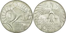 World Coins - Coin, GERMANY - FEDERAL REPUBLIC, 10 Mark, 1972, Munich, MS(60-62), Silver