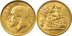 World Coins - Coin, Australia, George V, 1/2 Sovereign, 1915, , Gold, KM:28