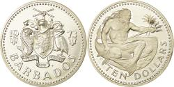 World Coins - Coin, Barbados, 10 Dollars, 1973, Franklin Mint, , Silver, KM:17a