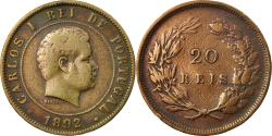 World Coins - Coin, Portugal, Carlos I, 20 Reis, 1892, , Bronze, KM:533