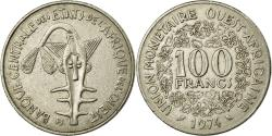 World Coins - Coin, West African States, 100 Francs, 1974, AU(50-53), Nickel, KM:4