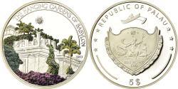 World Coins - Coin, Palau, Les jardins suspendus de Babylone, 5 Dollars, 2013, Proof